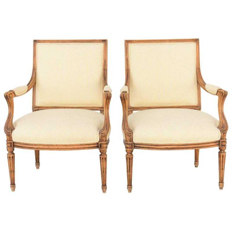 Pair of Fauteuils by  None None - Masterpiece Online