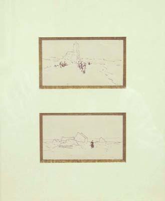 Two sketches by  Luigi  Loir - Masterpiece Online