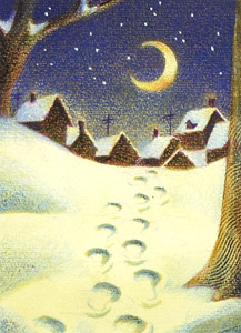 Footsteps In Snow  by  Raul Colon