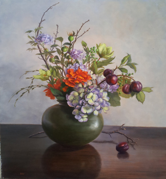 Hydrangea and Plums