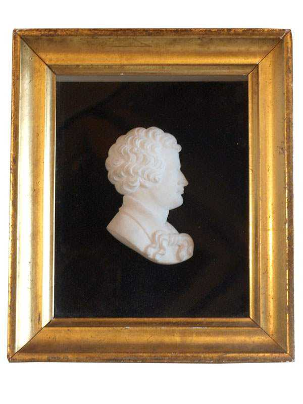 Framed Porcelian Bust by   English - Masterpiece Online