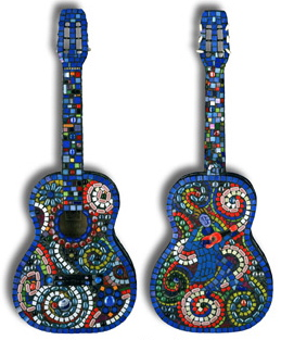 Blue Acustic Guitar by  Tiffany Miller - Masterpiece Online