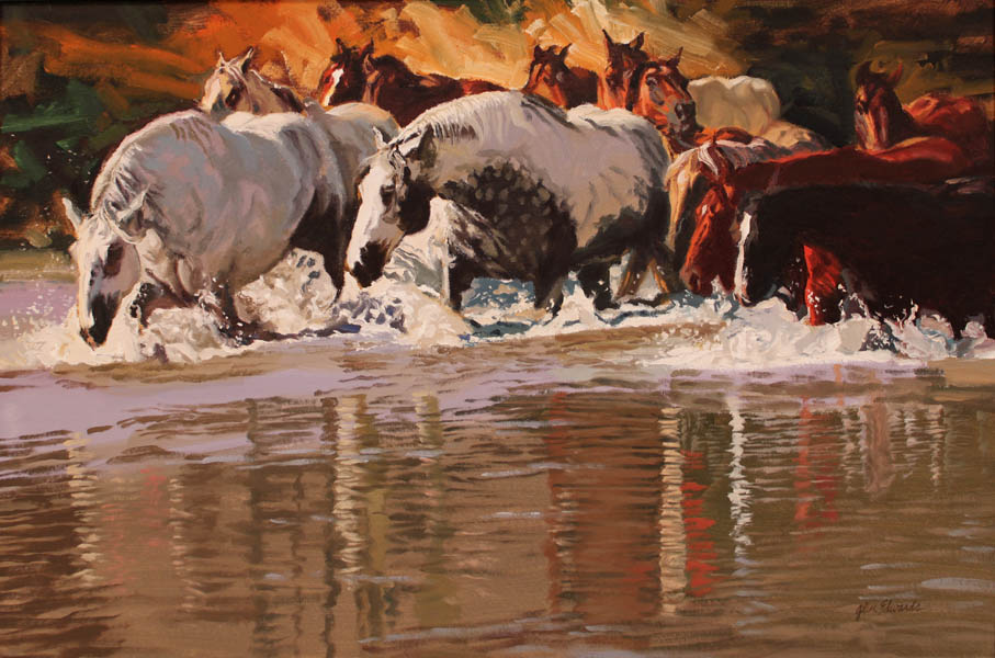 SOLD- At the River's... by  Glen Edwards - Masterpiece Online