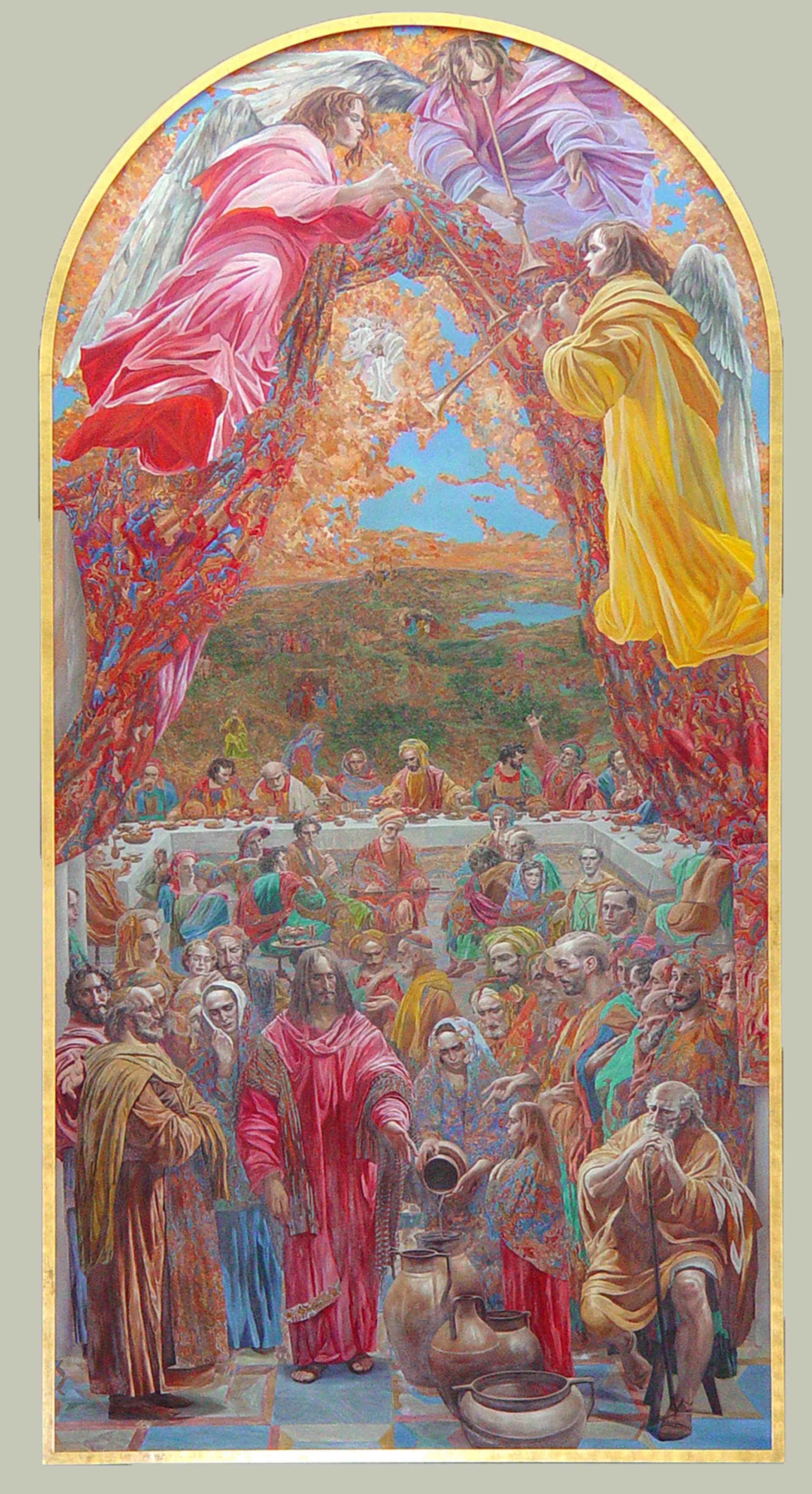 Wedding Feast at Cana by  Daud Akhriev - Masterpiece Online