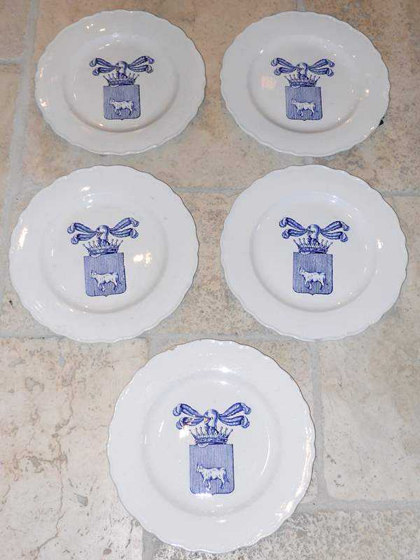 Set of 5 Plates by  Italian  - Masterpiece Online