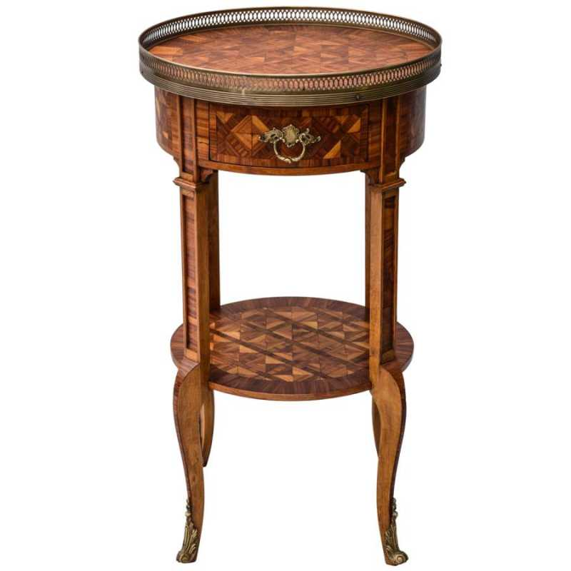 Round Parquetry Table by  French  - Masterpiece Online