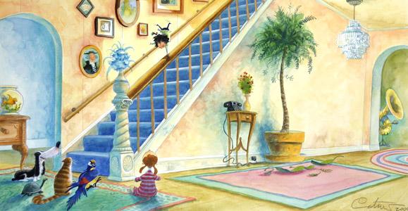 Mollys Handstand by  David Catrow - Masterpiece Online