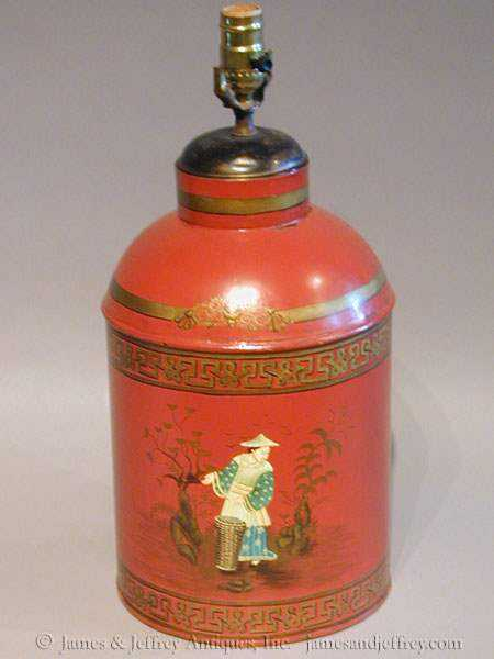 Tea Can Lamp by   English - Masterpiece Online