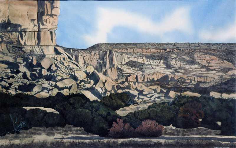 Enchanted Mesa Near A... by  Richard C. Sandoval - Masterpiece Online