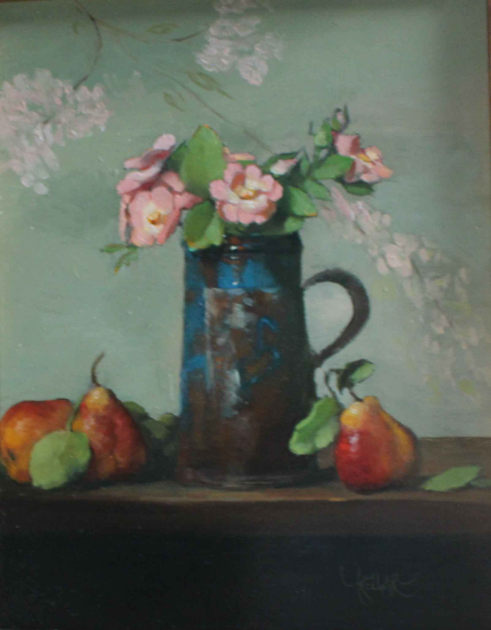 Roses with Pears by  Martha Kellar - Masterpiece Online