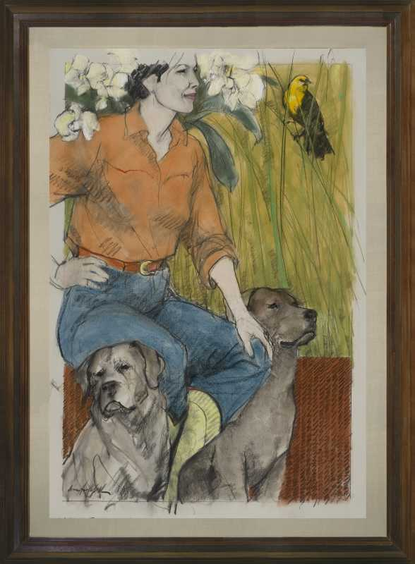 A Walk in the Garden by  Donna Howell-Sickles - Masterpiece Online