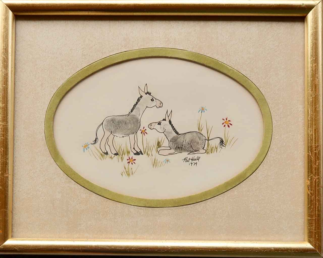 Donkey Finger Prints by Mrs. Pat Hall - Masterpiece Online