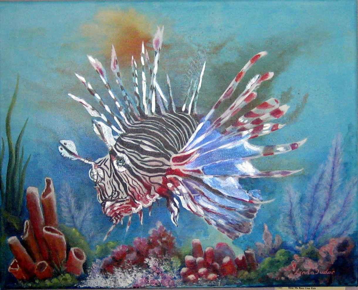 Hear Me Roar Lion Fish by Mrs Linda Tudor - Masterpiece Online