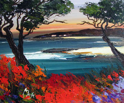 Pebble Beach Sunset by  Louis  Magre - Masterpiece Online