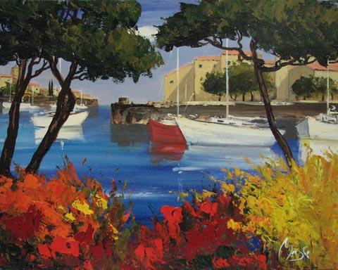 Port Grimaud by  Louis  Magre - Masterpiece Online