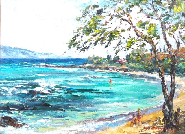 Napili Beach by  Hajime Okuda (1906-1992) - Masterpiece Online