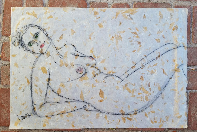 Autumn Nude by  Laurha Frankfort - Masterpiece Online