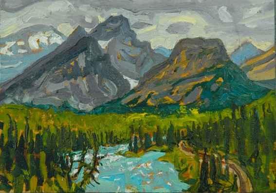 Morantz Point, Banff ... by Mr. Dennis Brown - Masterpiece Online