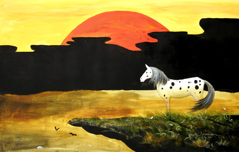 Horse With Sunset