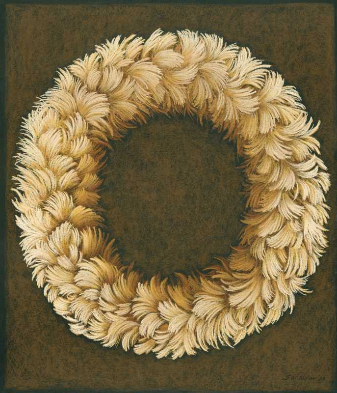 Round Feather Lei 3 by  Shelley S. M. Miller - Masterpiece Online