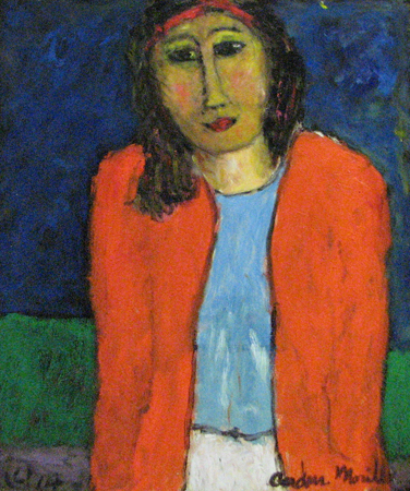 Woman in Orange Jacket by  Andres  Morillo - Masterpiece Online