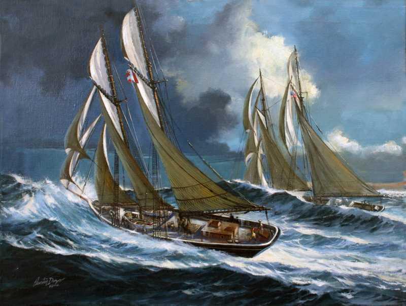 The Bluenose Racing t...  by Mr Austin Dwyer, ASMA