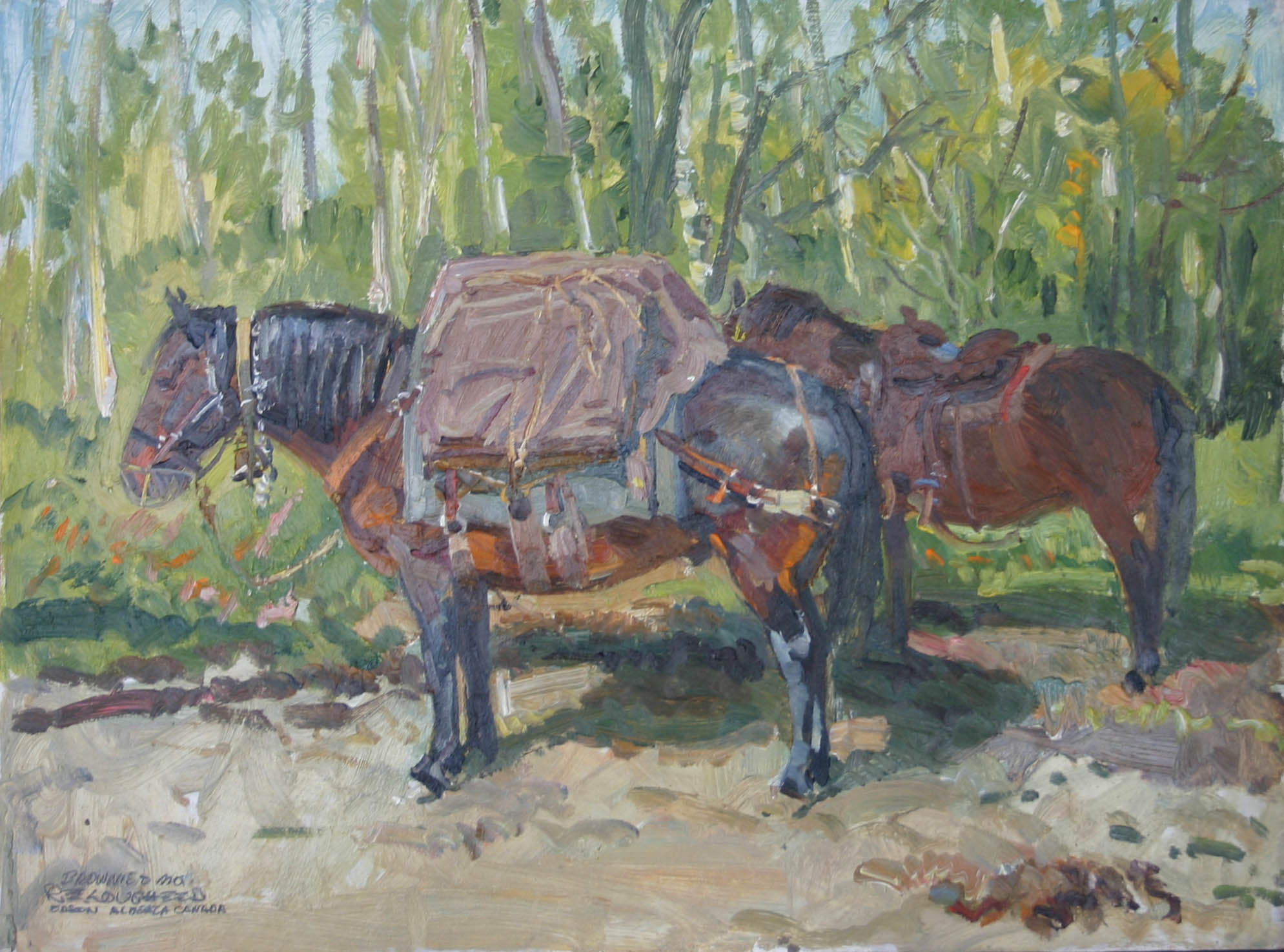 Brownie And Mo by  Robert Lougheed - Masterpiece Online