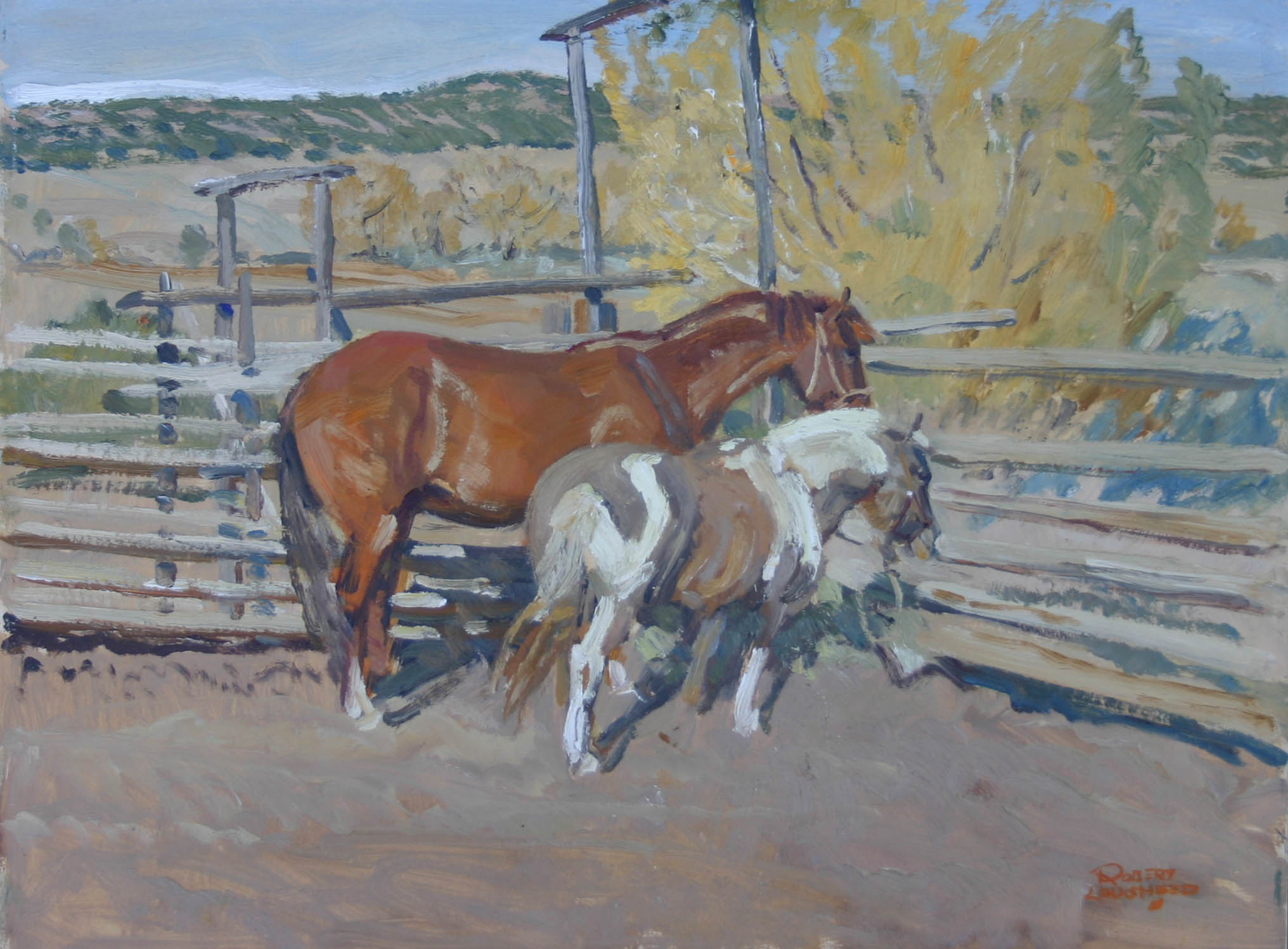 Pony & Horse New Mexc... by  Robert Lougheed - Masterpiece Online