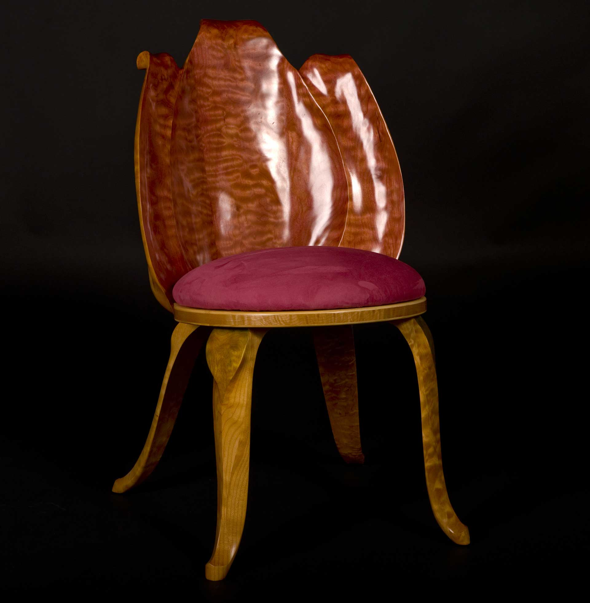 Persimmon Tulip Chair by  Eric Freyer - Masterpiece Online