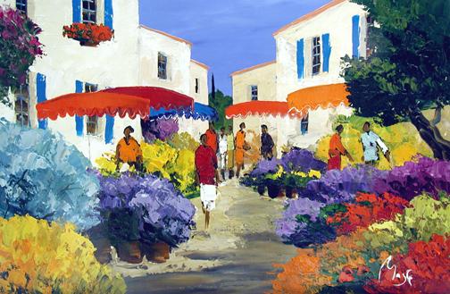 Le Marche de St Remy by  Louis  Magre - Masterpiece Online