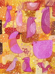 Ten Pink Birds  by  Sarajo Frieden