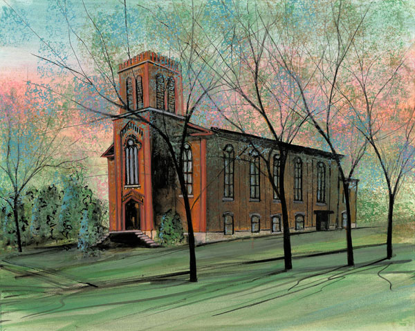 DP-Old Brick by  P. Buckley Moss  - Masterpiece Online