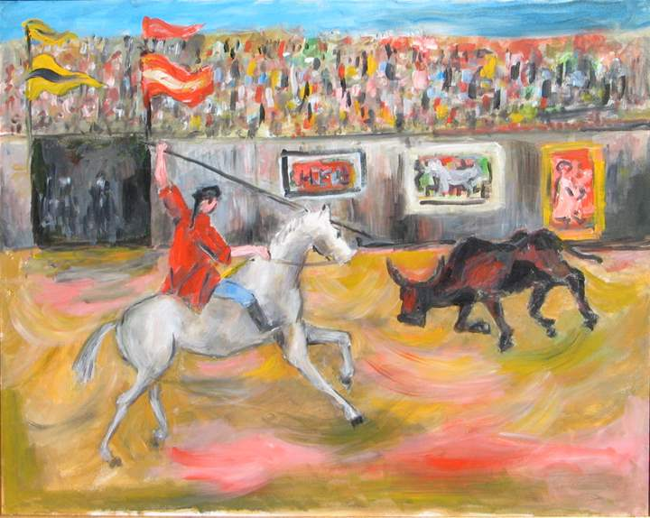 The Bull Fight by  Tom Maley - Masterpiece Online