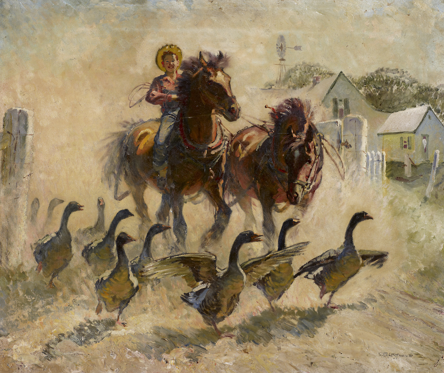 Canada - Scaring the ... by  Robert Lougheed - Masterpiece Online