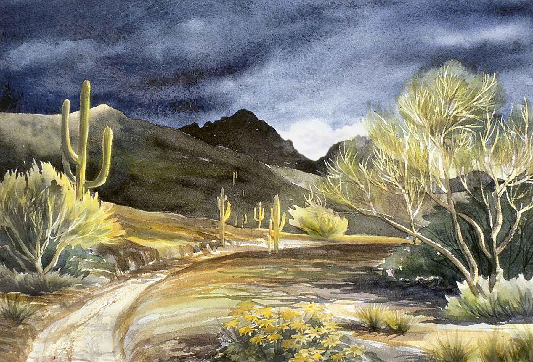 THREATENING SKIES by  Ellen Fountain - Masterpiece Online