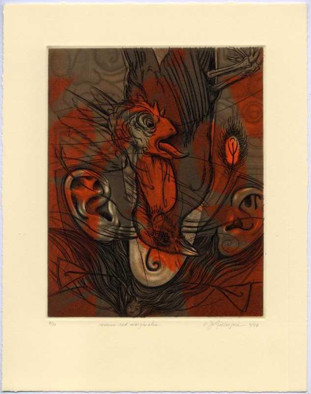Red Reverse Marginalia by  Oscar Jay Gillespie - Masterpiece Online