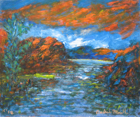 Orange Clouds Above t... by  Andres  Morillo - Masterpiece Online