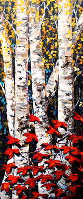 Night Birch - DS 1737... by  Maya Eventov - Masterpiece Online