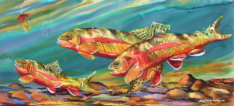 Fishing For Gold - La... by MS Nancy Dunlop Cawdrey - Masterpiece Online