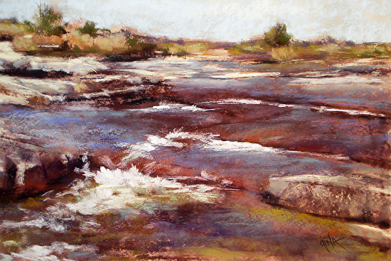 Whitewater on the Lla... by Mrs Dina Gregory - Masterpiece Online