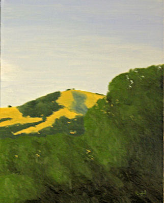 Hilltop Beyond the Tr... by  Donald  Craghead - Masterpiece Online