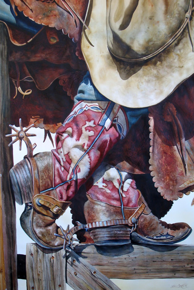 Old Wyoming Boots by  Nelson Boren - Masterpiece Online