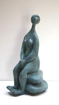 Woman Sitting on a Ro... by  Tom Maley - Masterpiece Online