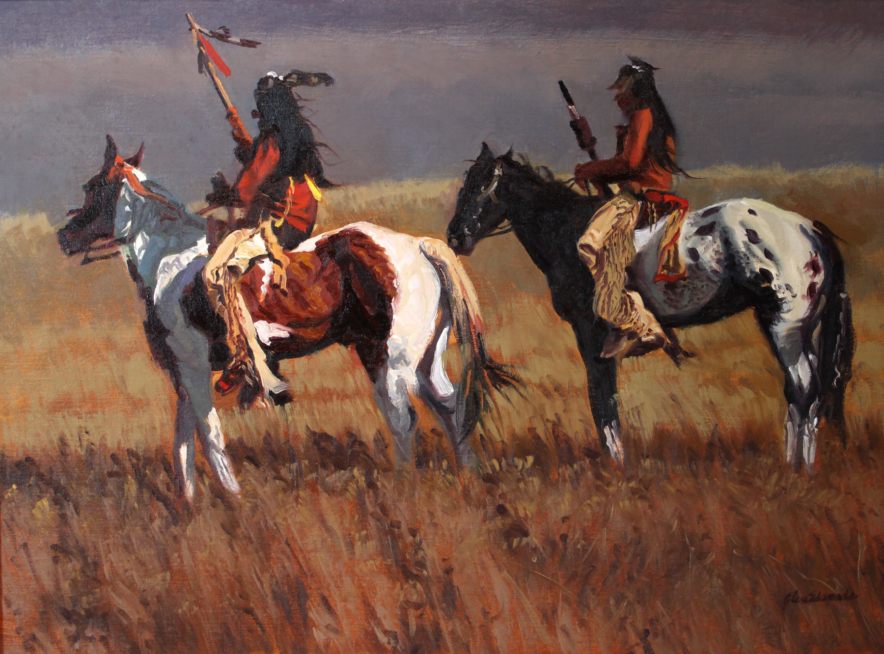 SOLD- Scouts by  Glen Edwards - Masterpiece Online