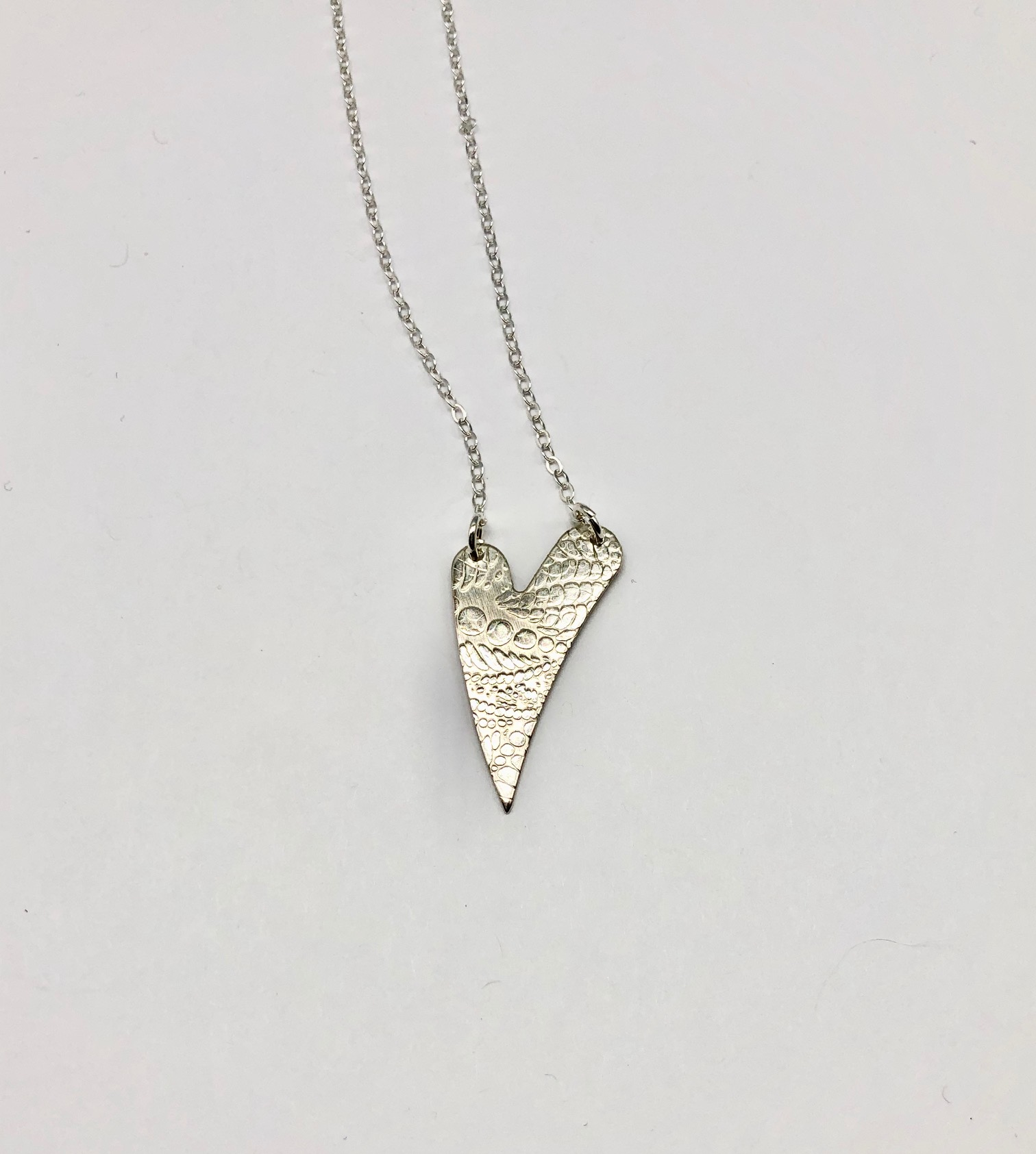 Sterling Heart Necklace (68) 18