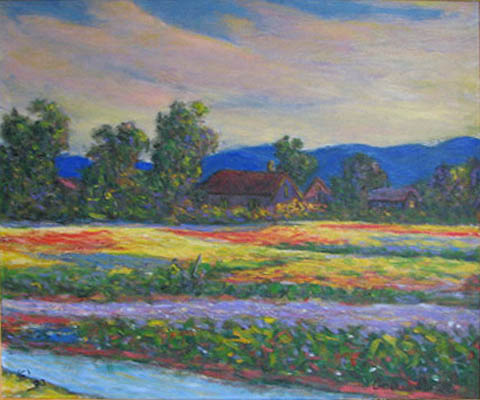 Spring Flower Field by  Andres  Morillo - Masterpiece Online