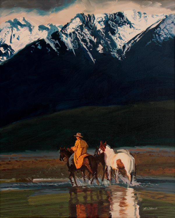 SOLD- The Blue Mount... by  Glen Edwards - Masterpiece Online