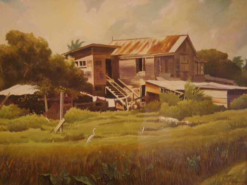 Large Wooden House by Mr. Angold Thompson - Masterpiece Online