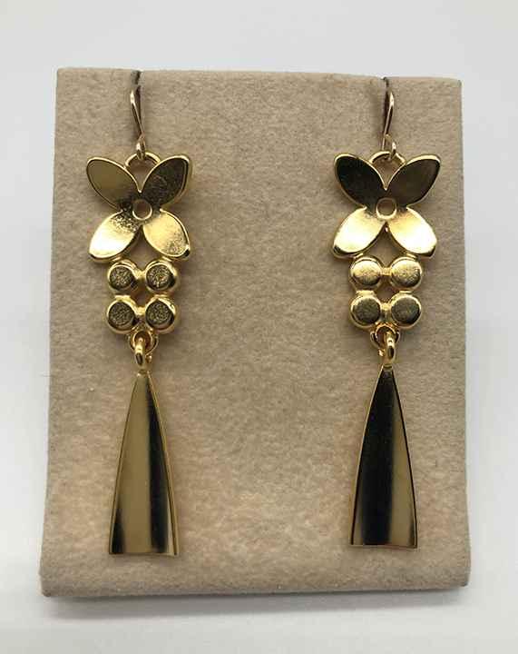 Linnea Tassel Drop Earrings Gold Plated Bronze