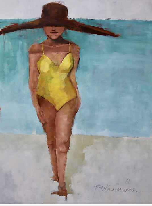 Yellow One Piece  by  Ruthie Carlson